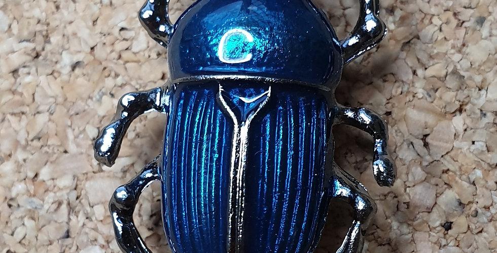 Dung Beetle Brooch - Light Blue