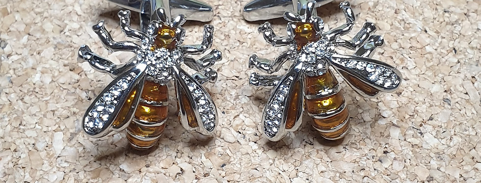 Gold Wasp Cufflinks