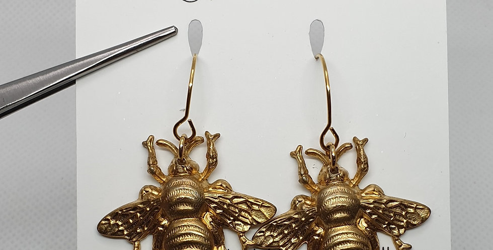 Large Bees- Brass & Stainless Steel