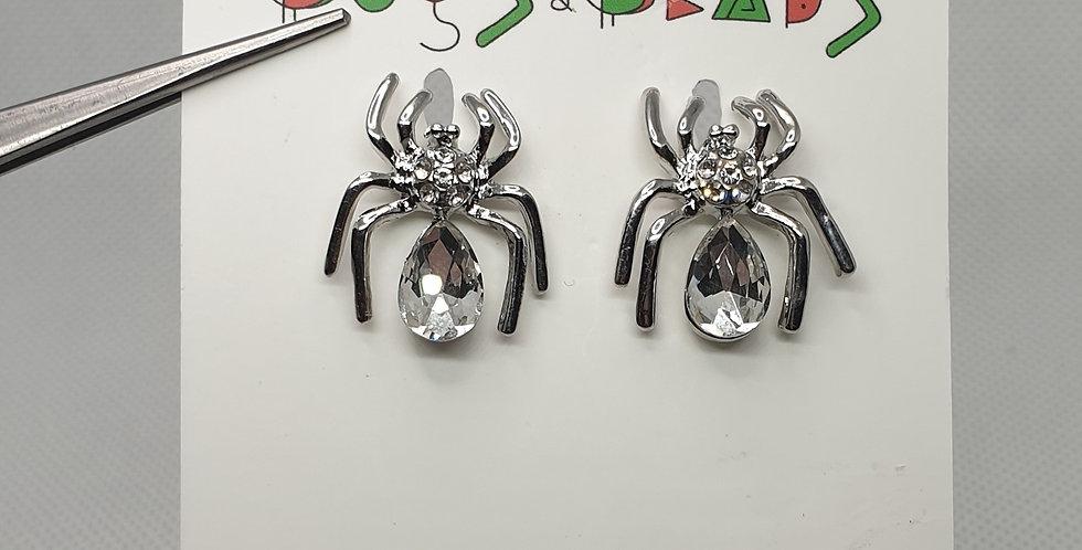 Spider Studs - Silver