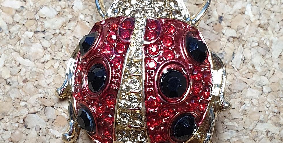 Ladybird Beetle Fashion Brooch