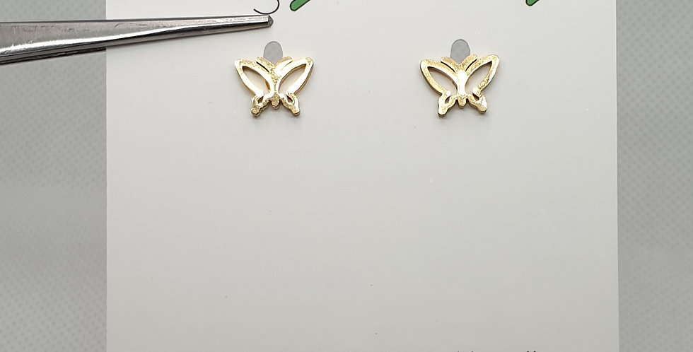 Golden Butterfly studs earrings