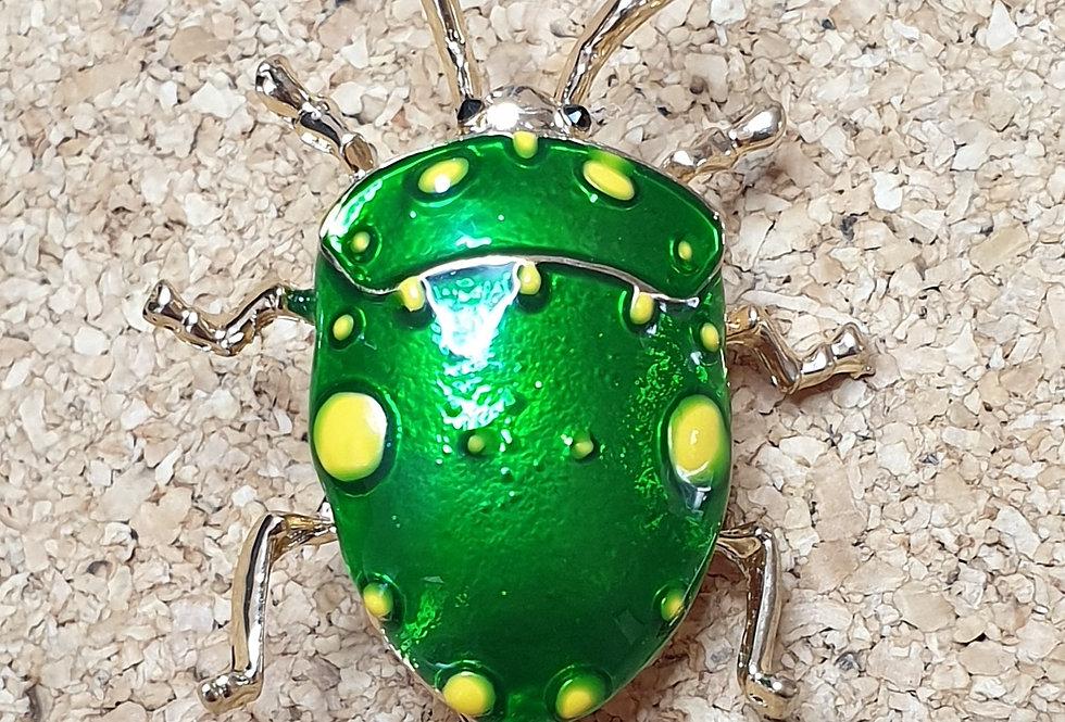 Stinkbug Brooch - Light Green
