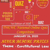 National Online Quiz Competition on Constitution Law by Together We Can, We Will! [Jan 26]: Reg. Now