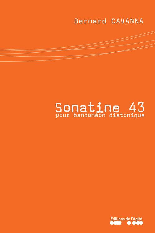 Sonatine 43 pour bandonéon