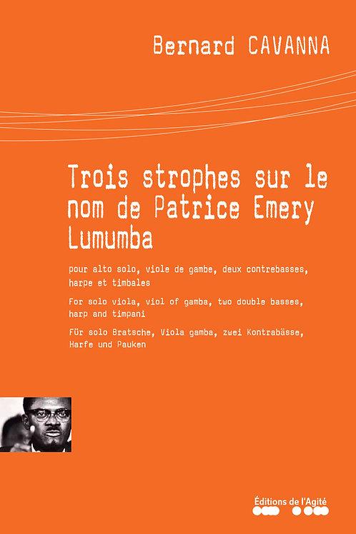 Trois strophes sur le nom de Patrice Emery Lumumba