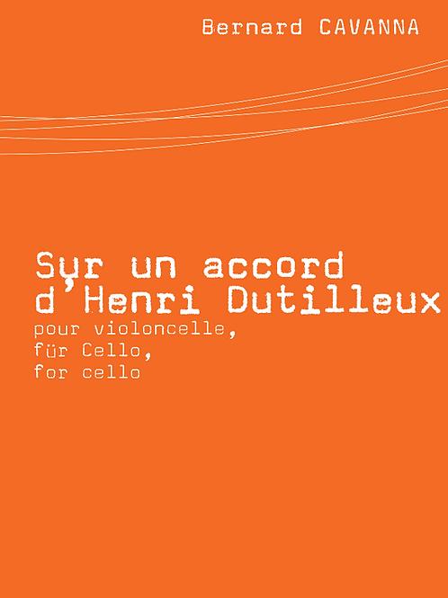 Sur un accord d'Henri Dutilleux
