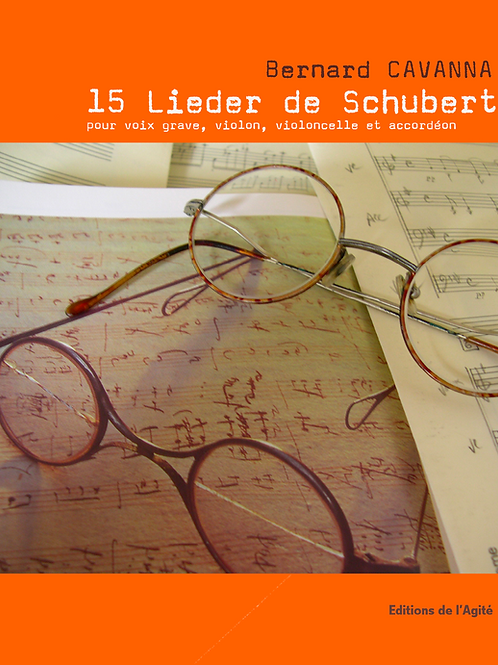 15 Lieder de Schubert -  voix grave