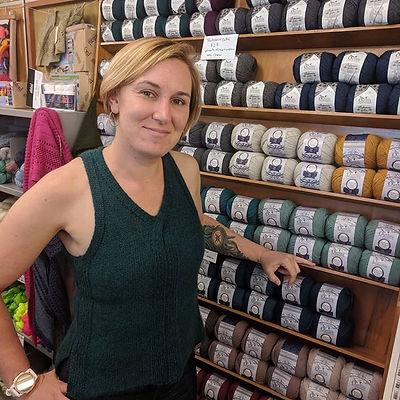 Shelley at Holland Road Yarn Company