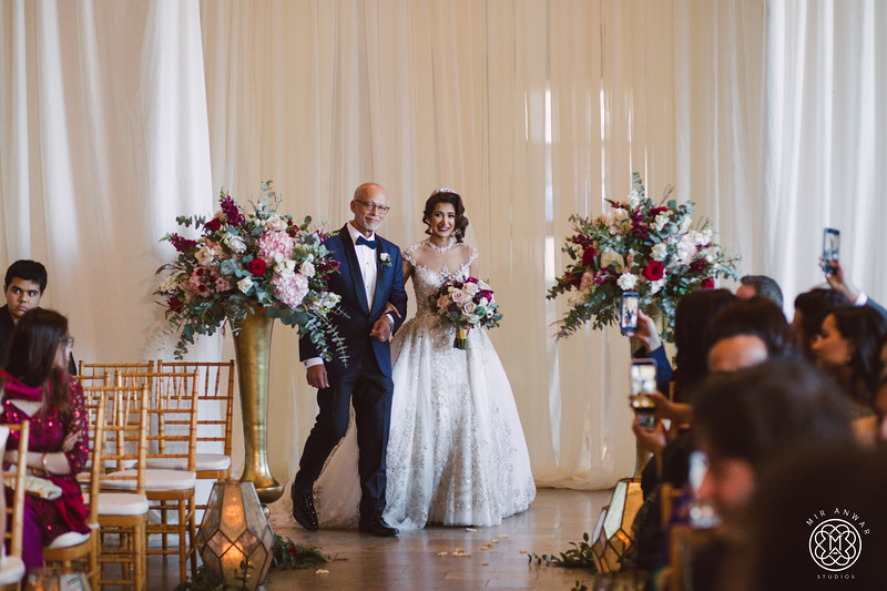 Burgundy, Blush and Pink Wedding