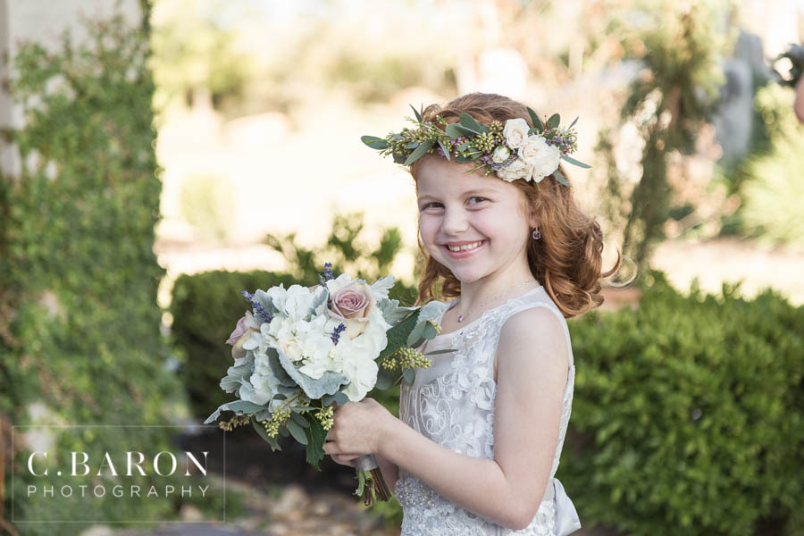 Flower Girl Halo and Bouquet