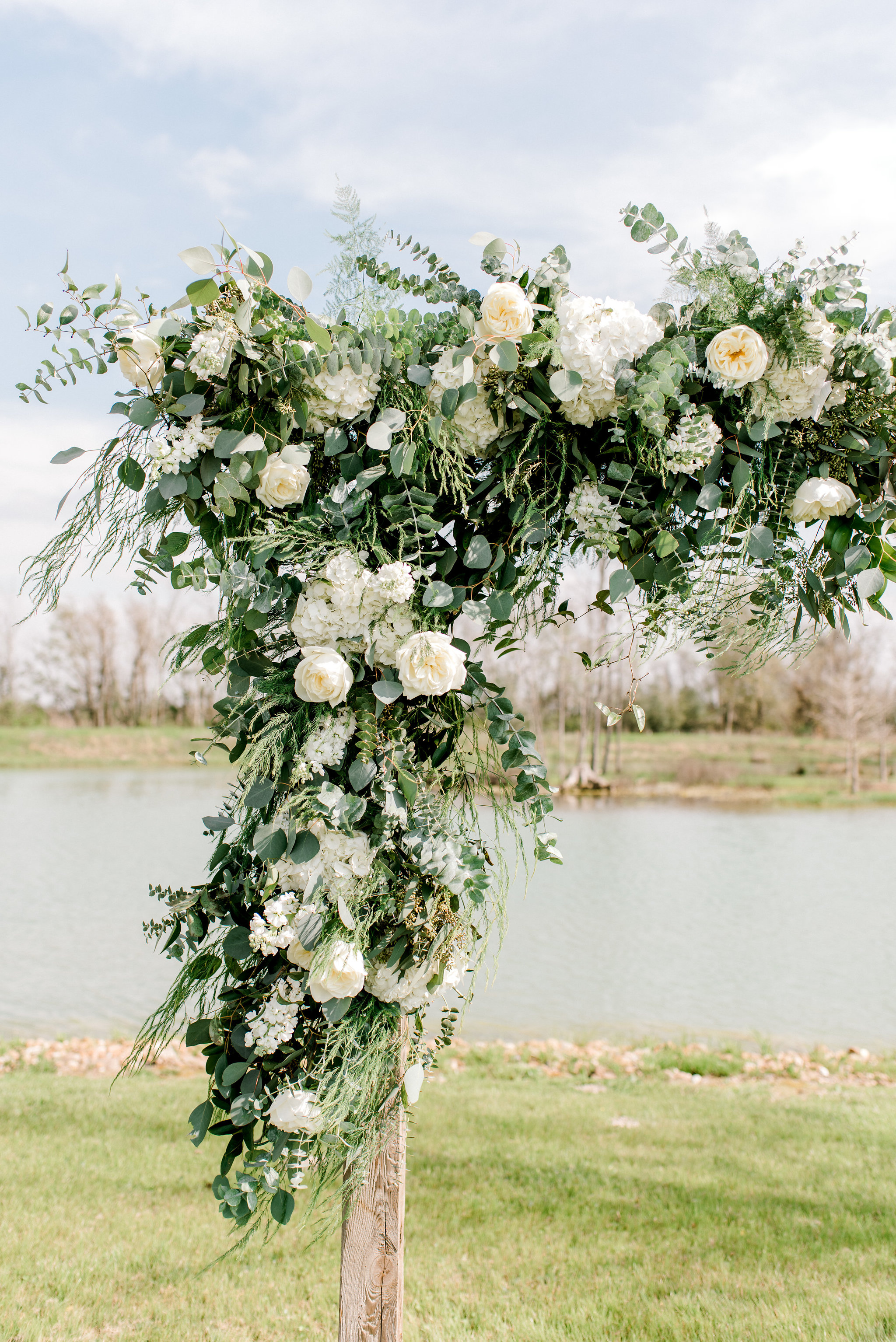 White and Green Ceremony Flowers