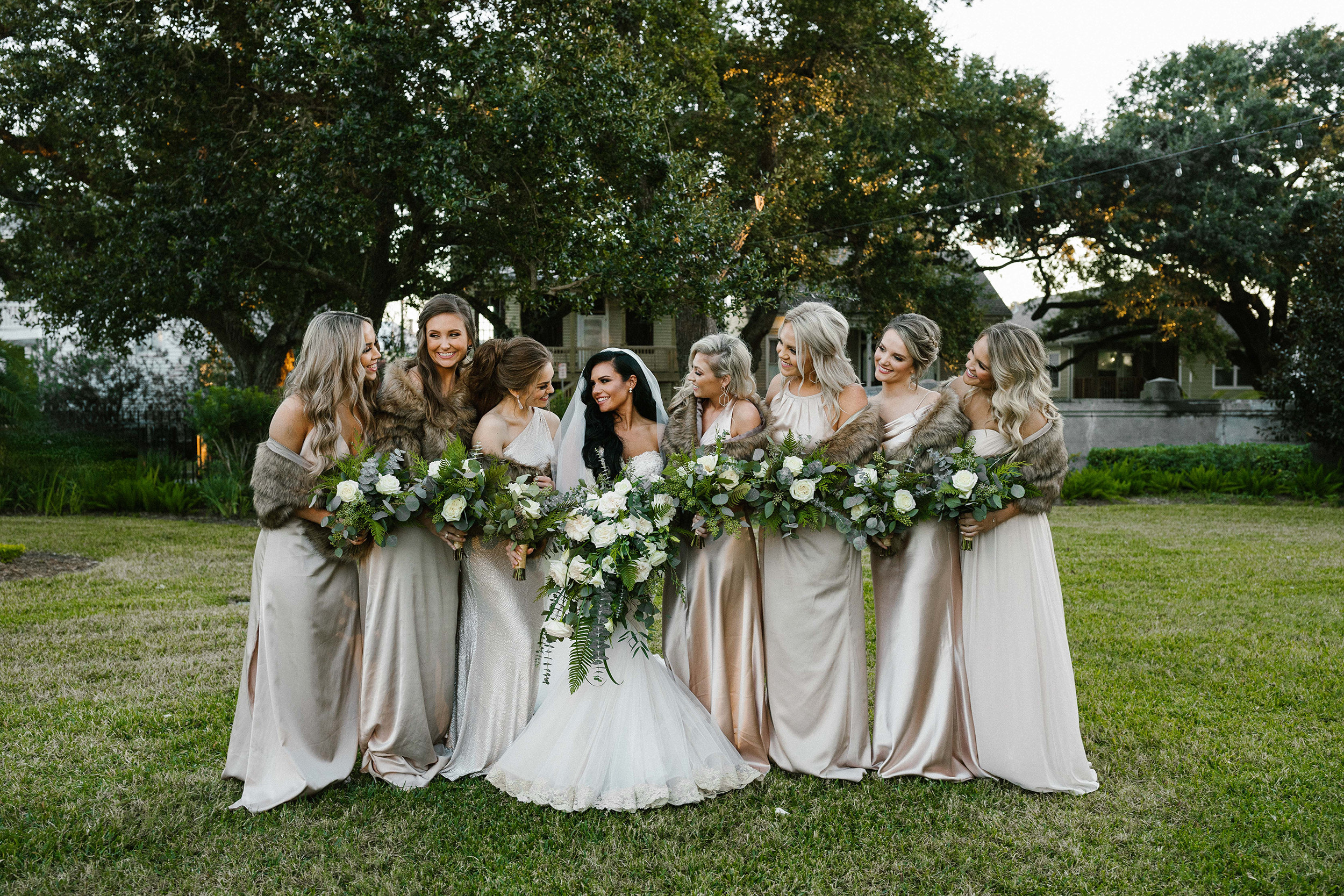 Bride and Bridesmaids' Flowers