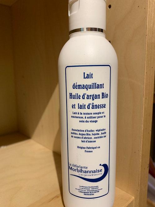 LAIT DÉMAQUILLANT huile d'Argan bio et lait d'ânesse