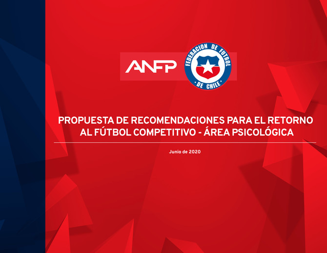 Propuesta de recomendaciones para el retorno al fútbol competitivo - Área Psicológica