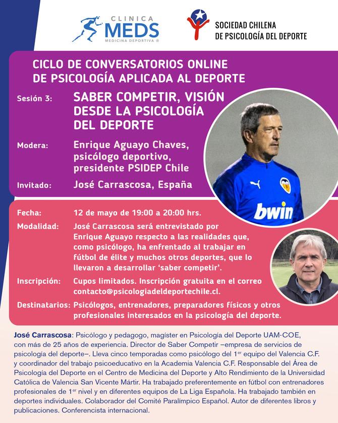 Conversatorio online: Saber Competir, visión desde la psicología del deporte