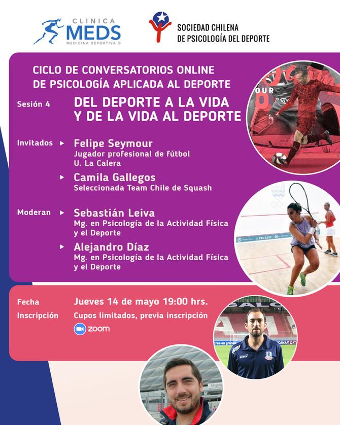 Conversatorio online: Del deporte a la vida y de la vida al deporte