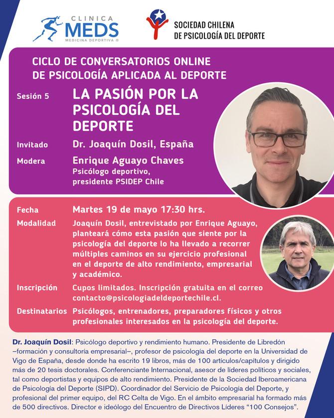 """Conversatorio online: """"La pasión por la psicología del deporte"""""""