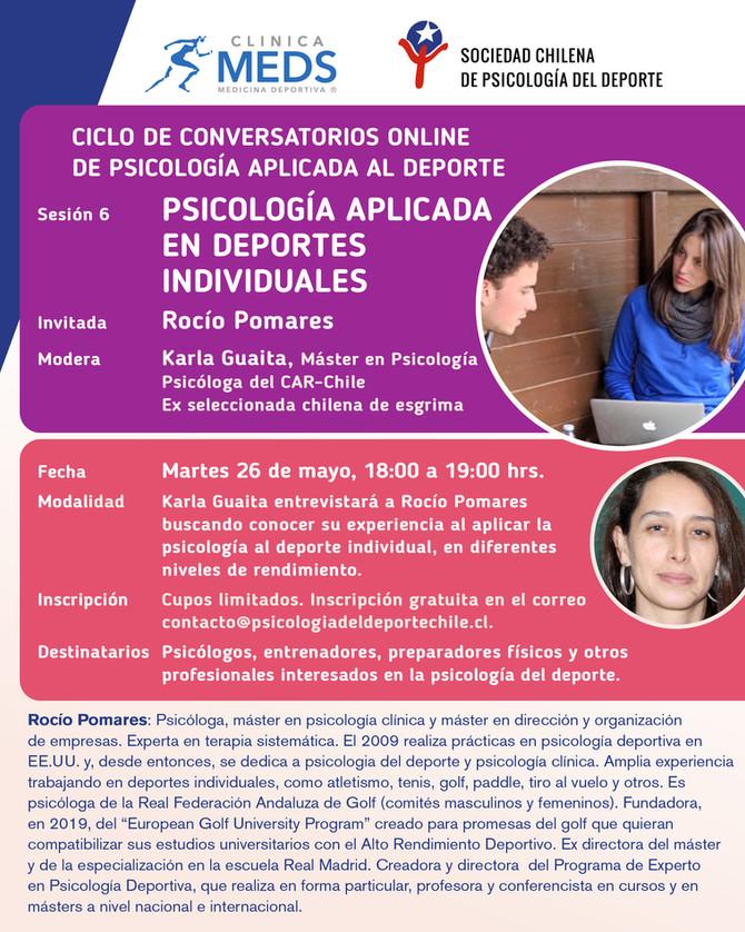 """Conversatorio online: """"Psicología aplicada en deportes individuales"""""""