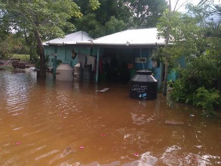 Graves inundaciones en Calakmul, dejan a miles de familias en alta vulnerabilidad