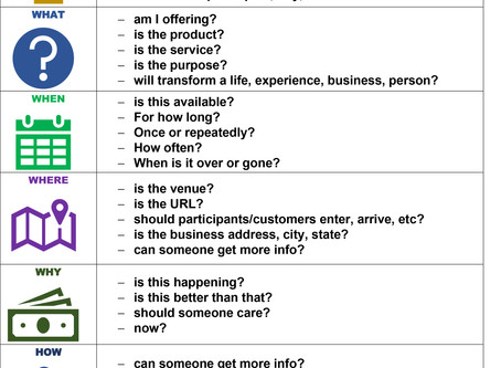 Six Questions: Principles for marketing and messaging
