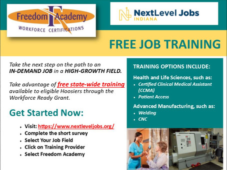 Free training available state-wide