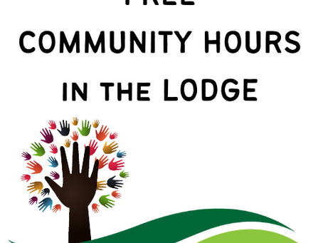 Free Community Hours in the Lodge