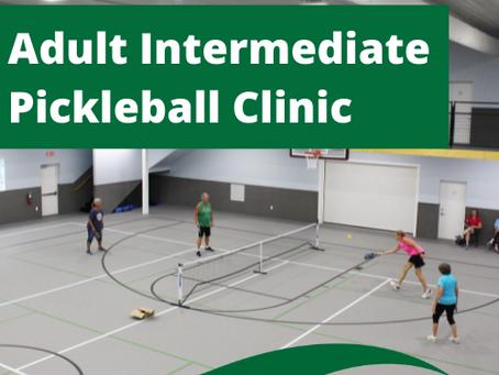 Adult Intermediate Pickleball Clinic Aug. 4 & 11