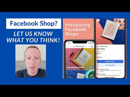 e-Commerce using Facebook Shops