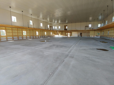 Gymnasium is shaping up!
