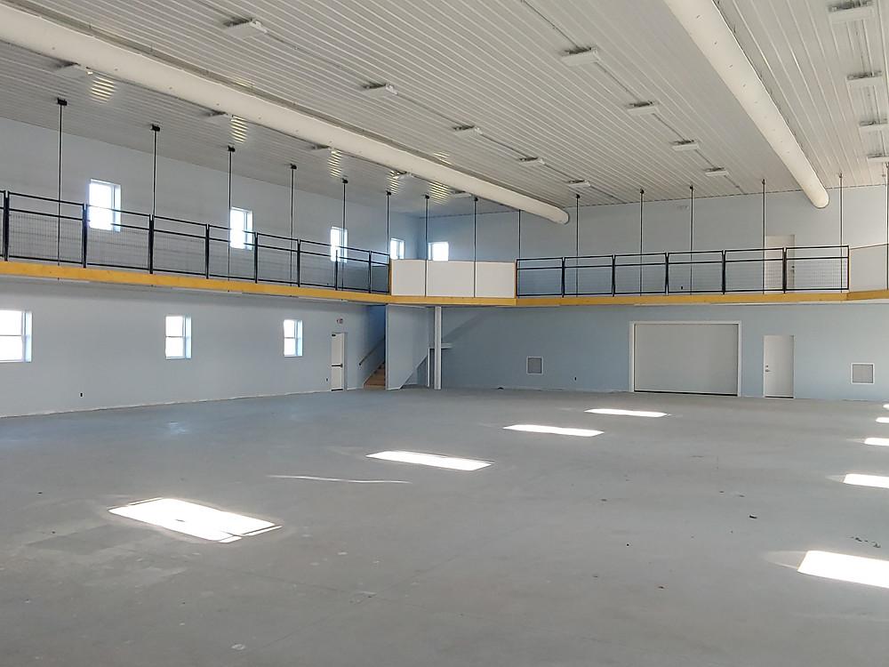 Interior of new gymnasium