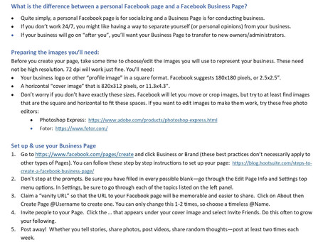 Facebook Page - some best practices