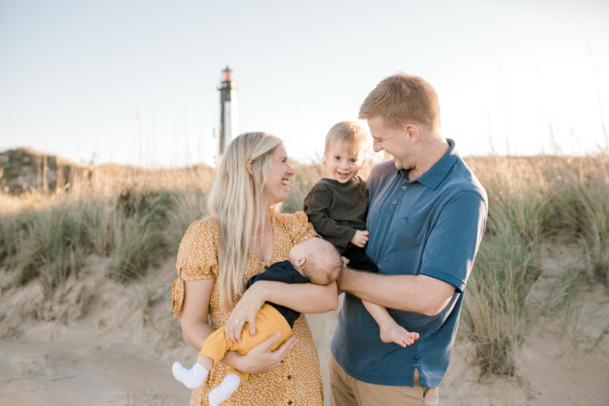 Allen Family | Sunset Beach Session | Virginia Beach