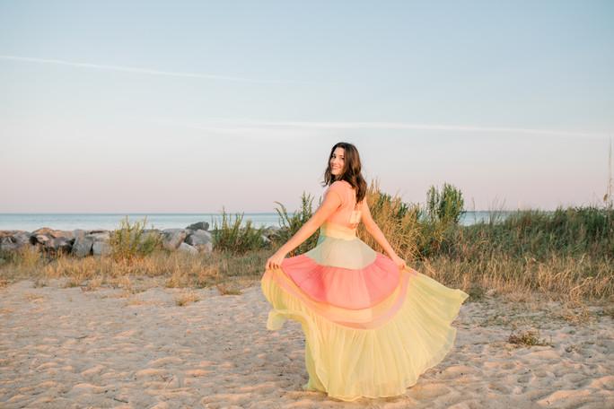 Sarah Eden | Model Beach Session | Fort Monroe, Hampton, Virginia