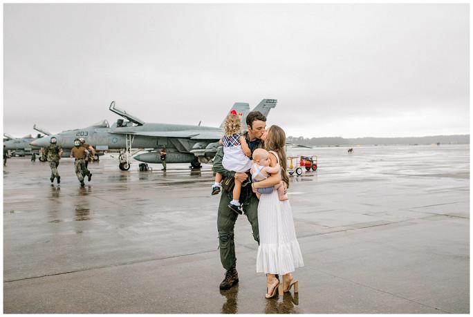 Green Family Homecoming | Oceana Naval Base
