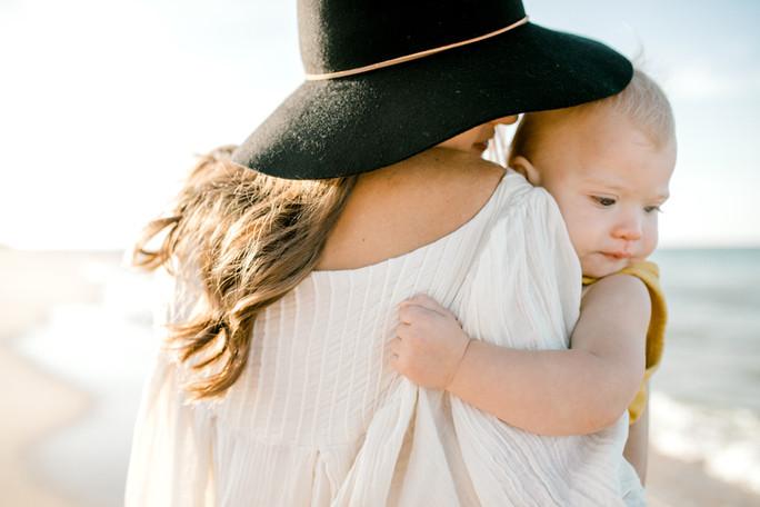 Tristan + Jace | Mommy + Me Beach Session | Virginia Beach, Virginia