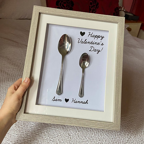 Framed Big Spoon, Little Spoon