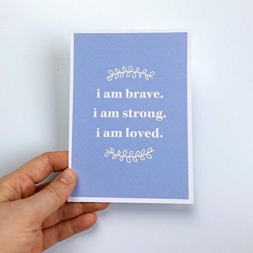 Positive Affirmations Postcard
