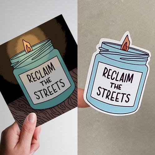 Reclaim the Streets Print & Sticker Pack
