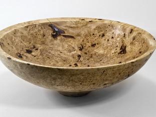 Maple Wood Burl Bowl
