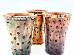 Colored Pencil Rim Vases