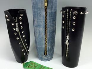 Zipper Girls Vase Trio
