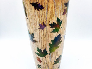 Falling Leaves Autumn Vase