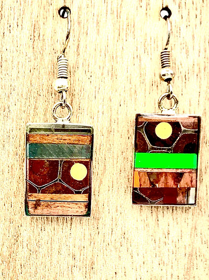 Small Colored Pencil Earrings