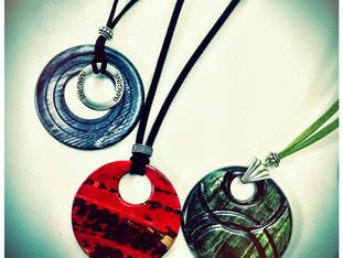 Handmade Wood Jewelry Pendants