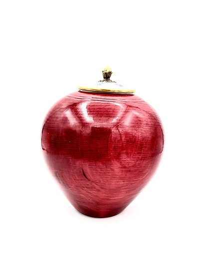 Cherry Red Vase - Jewelry Keeper - Pet Urn - Decorative Vase
