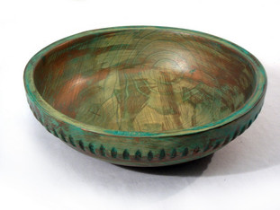 Copper Finish Wood Bowl