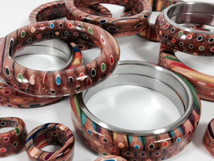 Color Pencil Bracelets and Rings