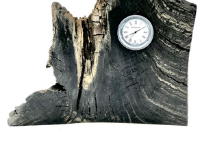 Bog Oak Desk Clock