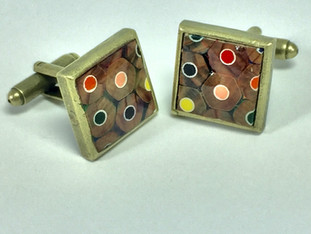 Square Colored Pencil Cufflinks
